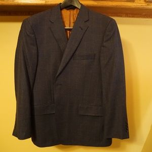 Joseph A. Bank Silk and Wool Sportcoat Blue 44S